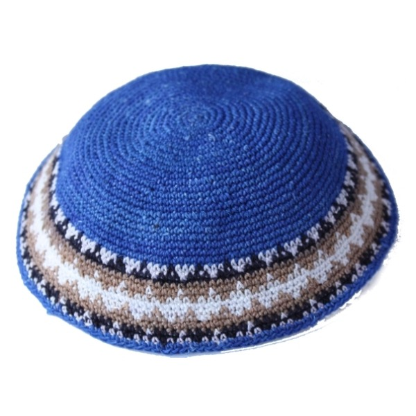 Royal Blue Crochet Knit Yarmulke