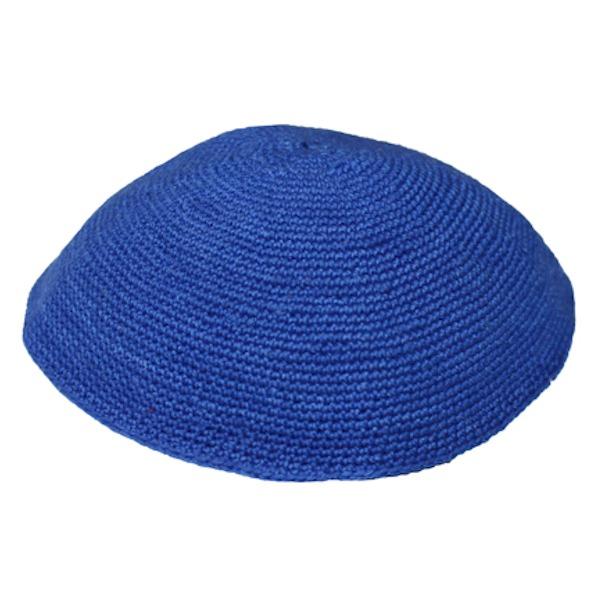 Royal Blue Knit Yarmulke