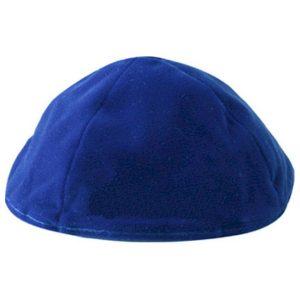 Royal Blue Velvet Yarmulke