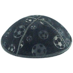 Soccer Sports Design Suede Yarmulke