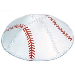 White Baseball Sport Yarmulke